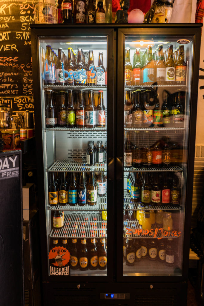 The beer selection, Vegan CatBar, Barcelona