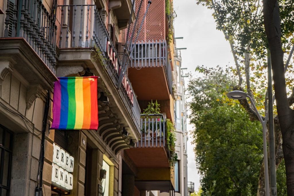 Rainbow flag, Barcelona