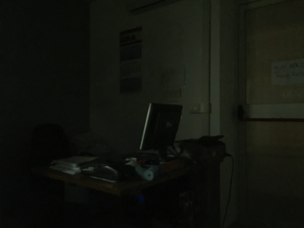 The dark office