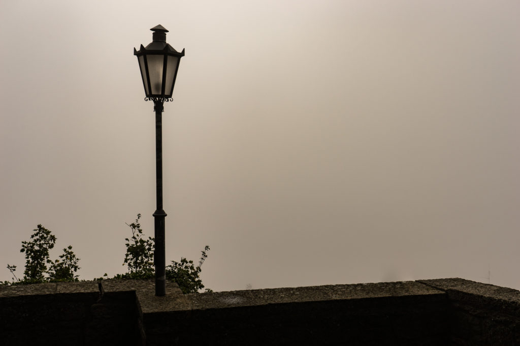 A lamp post in San Marino