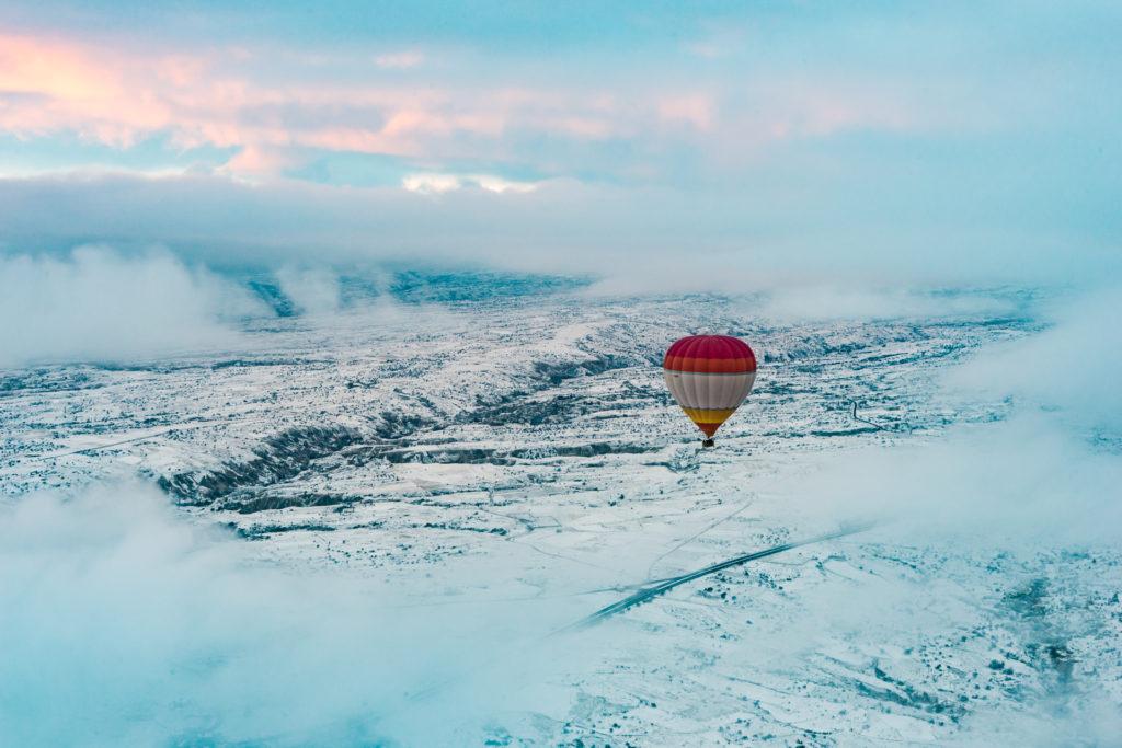 A hot air balloon, Cappadocia
