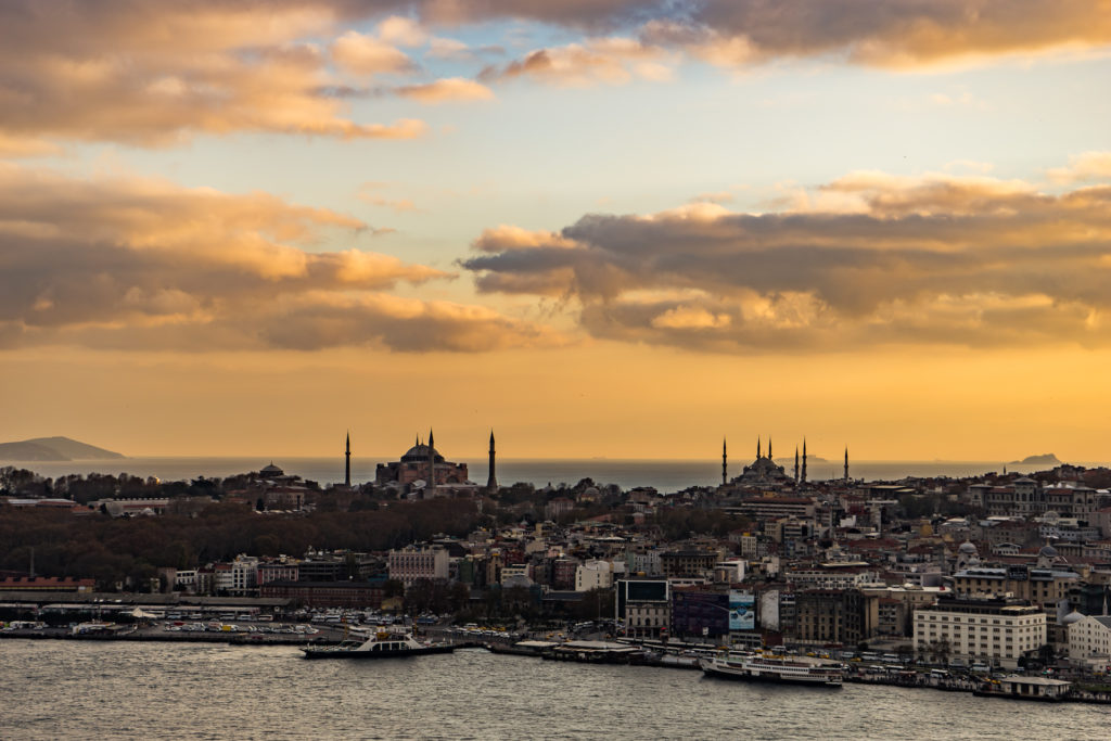 The View from Galata Tower at sunset, Istanbul