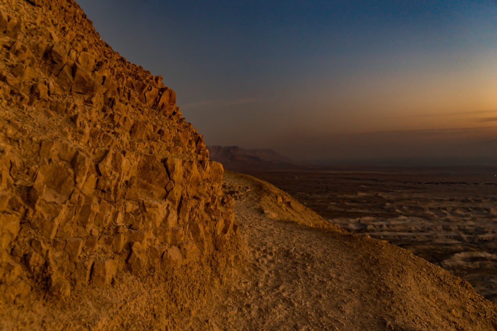 Snake path to Masada in Israel