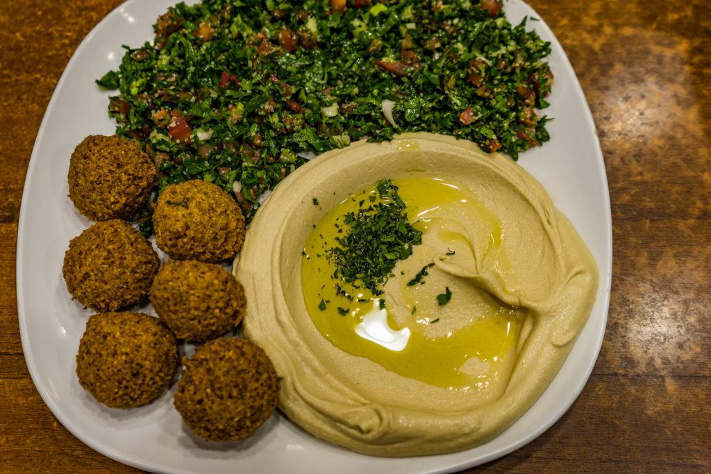 Turkish vegan food: falafel