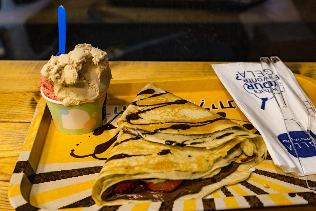 Vegan ice cream and crepes, Gala Gelateria, Tel Aviv