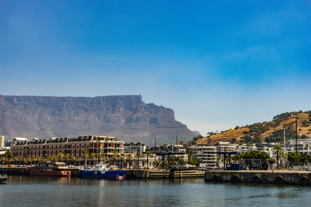 The view of Table Mountain from the Waterfront