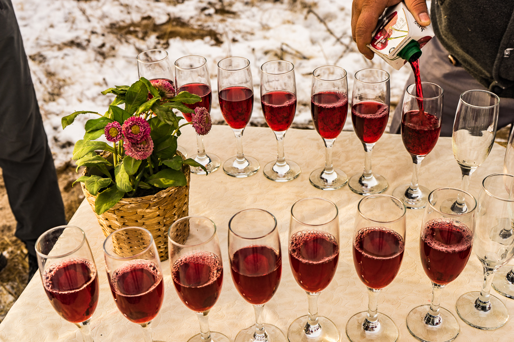 Champagne Toast After Hot Air Balloon Flight in Cappadocia