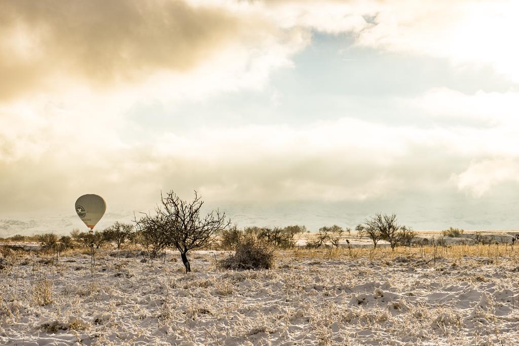 Hot Air balloon Flight in Cappadocia in the Winter