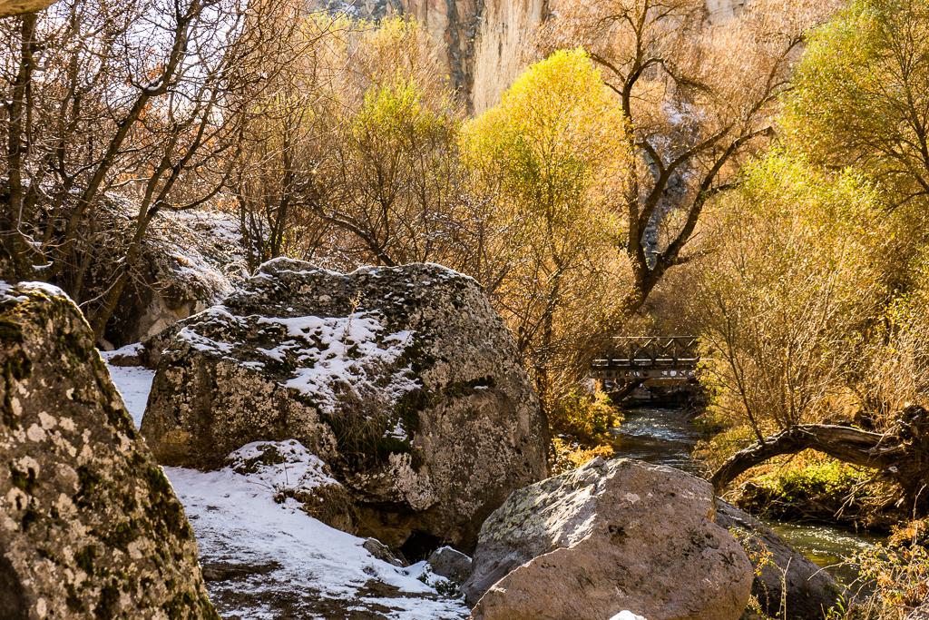 Ihlara Valley, Cappadocia, in the winter