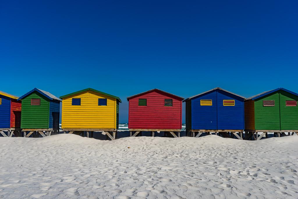 Beach huts in Muizenberg, Cape Town