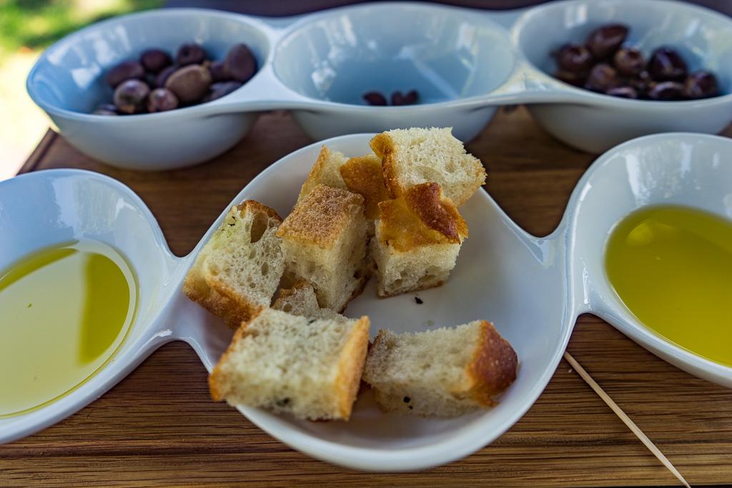 Olive oil tasting at La Bourgogne Farm in Franschhoek
