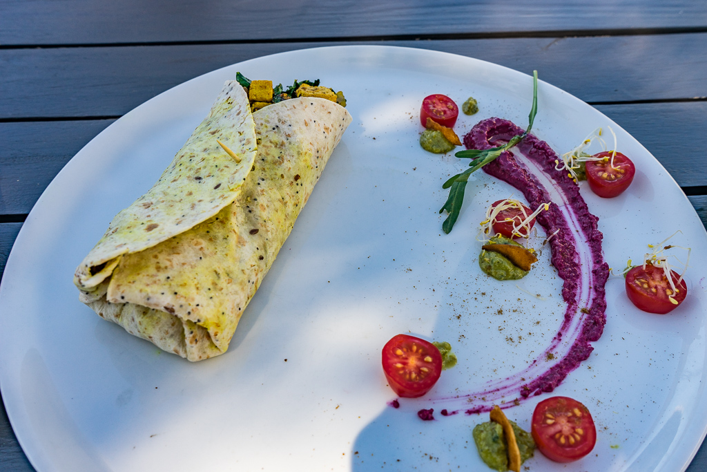Vegan restaurant, Namasté Lifestyle Café, Plettenberg Bay, South Africa