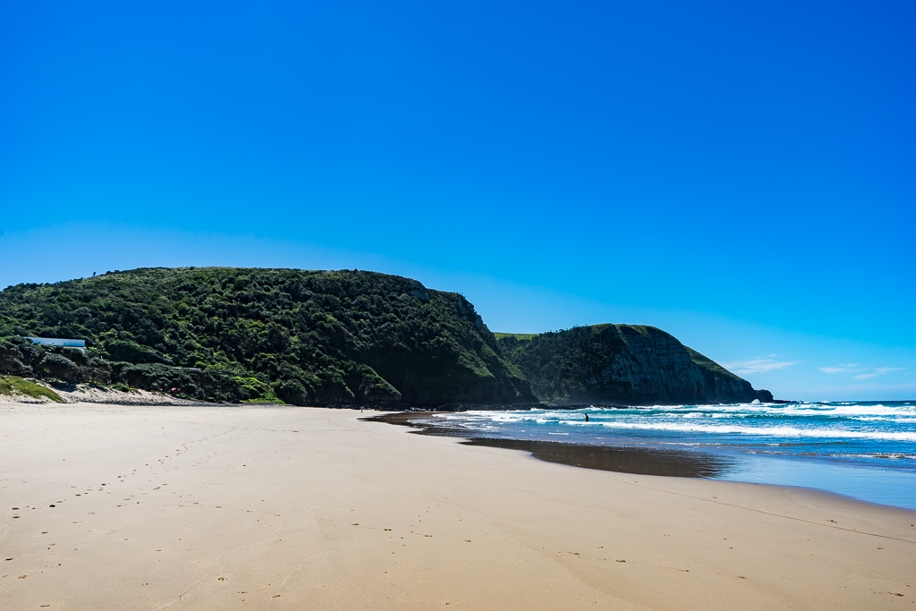 The beach in Coffee Bay, South Africa