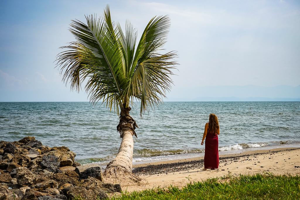 Private beach at Serena Hotel Lake Kivu, Rwanda