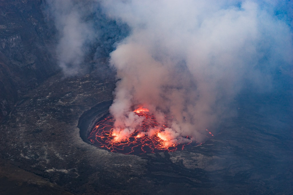 Nyiragongo active volcano in the Democratic Republic of Congo