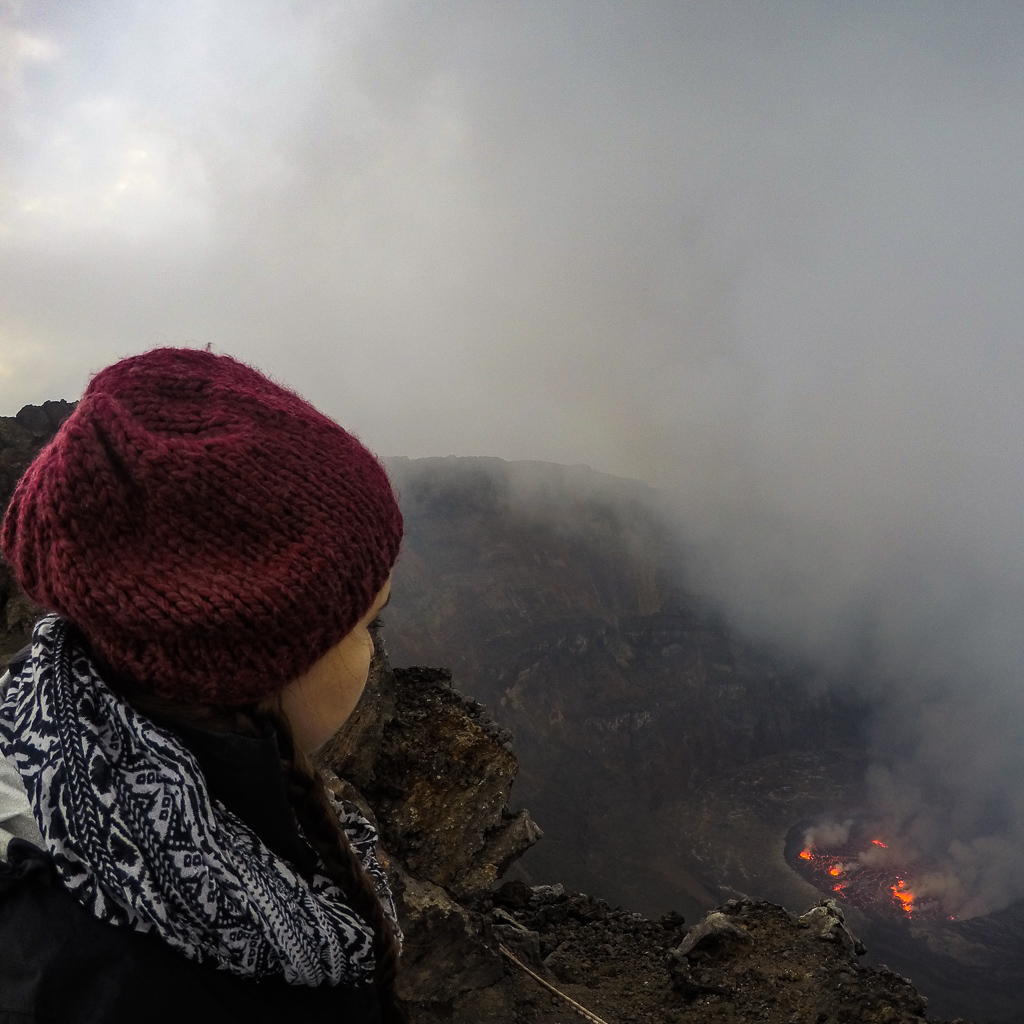 Watching the Lava Lake at Nyiragongo Volcano, Congo