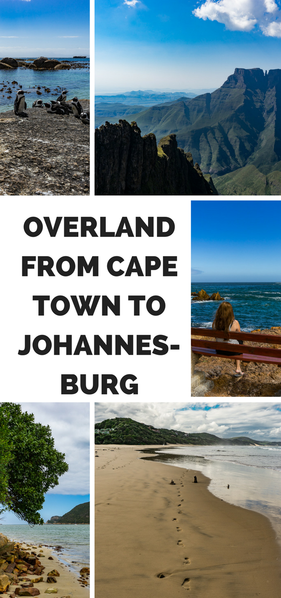 Overland from Cape Town to Johannesburg