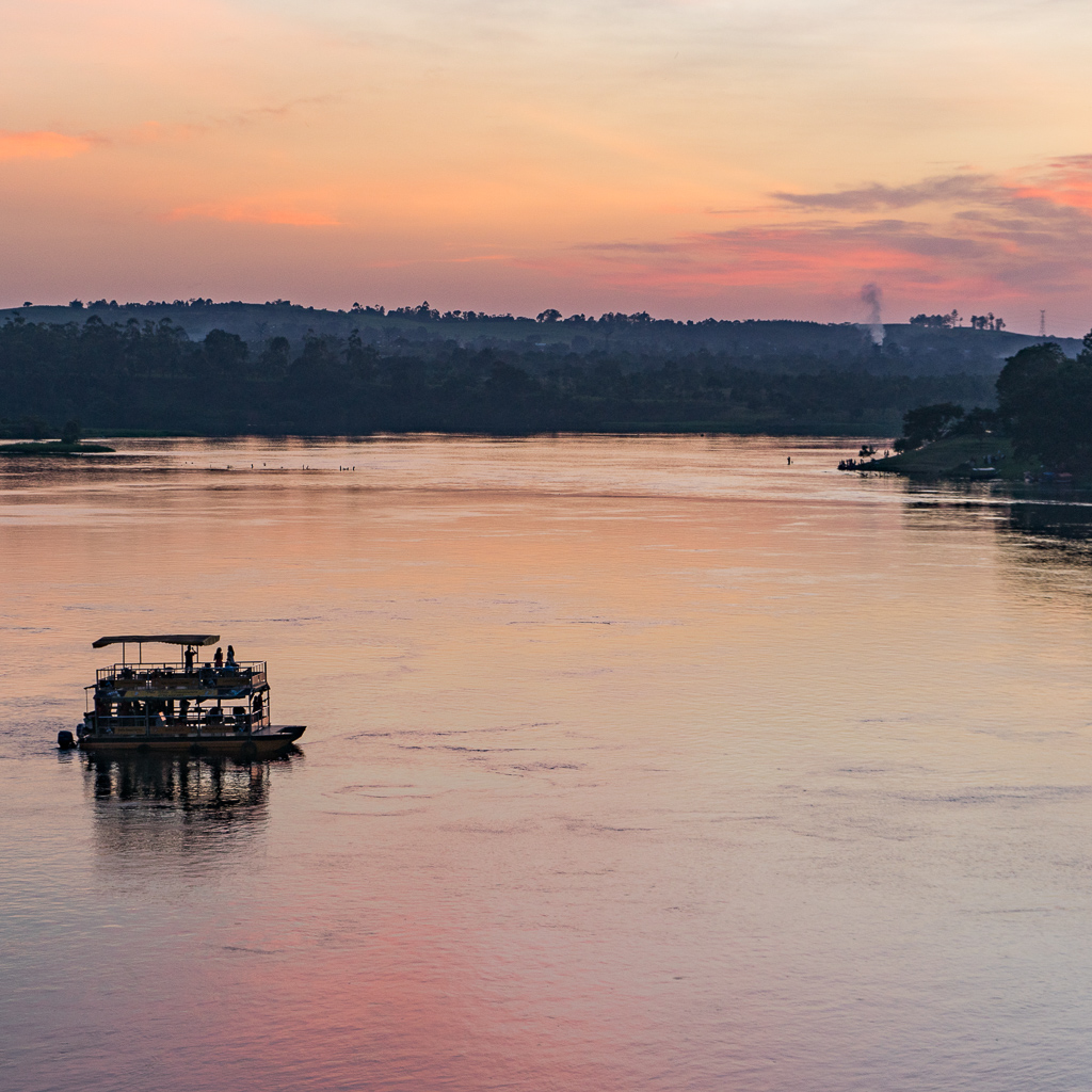 A Beautiful Sunset on the Nile River in Jinja, Uganda