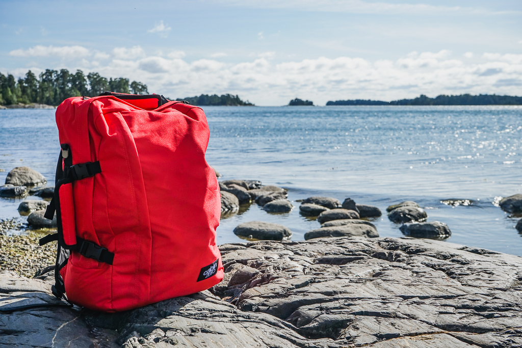 CabinZero backpack, red