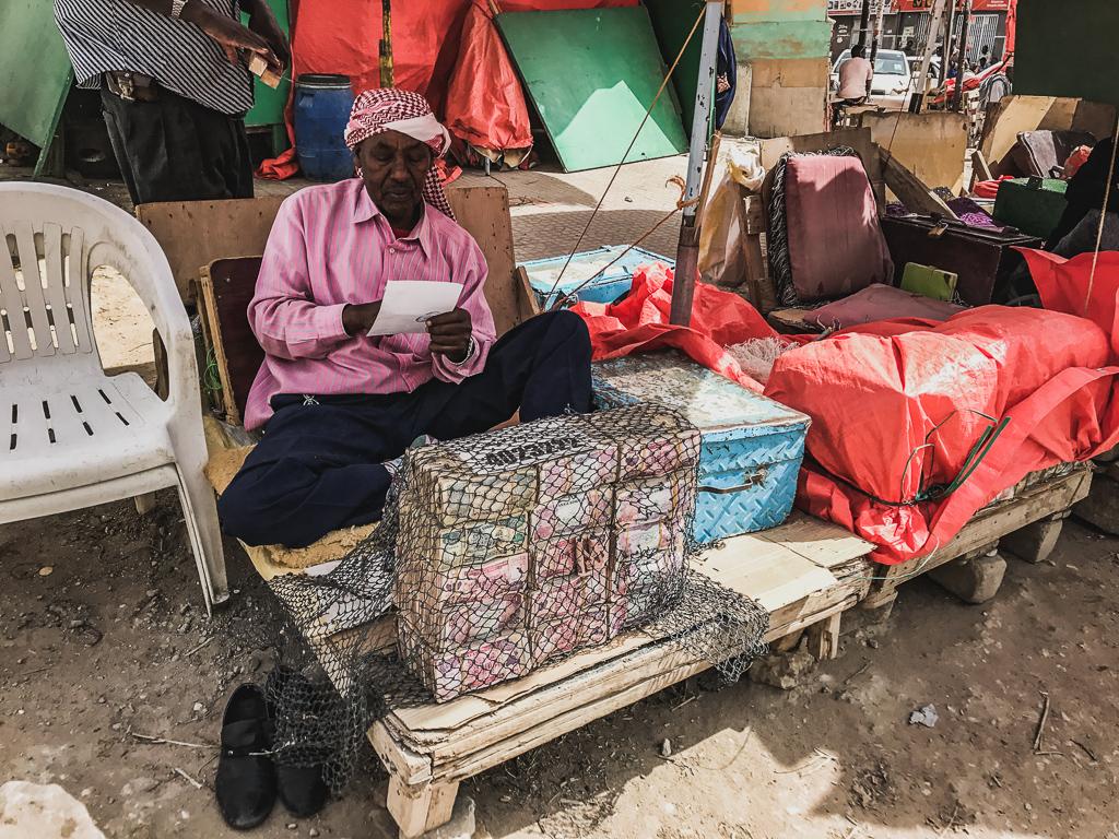 Money exchange in Hargeisa, Somaliland