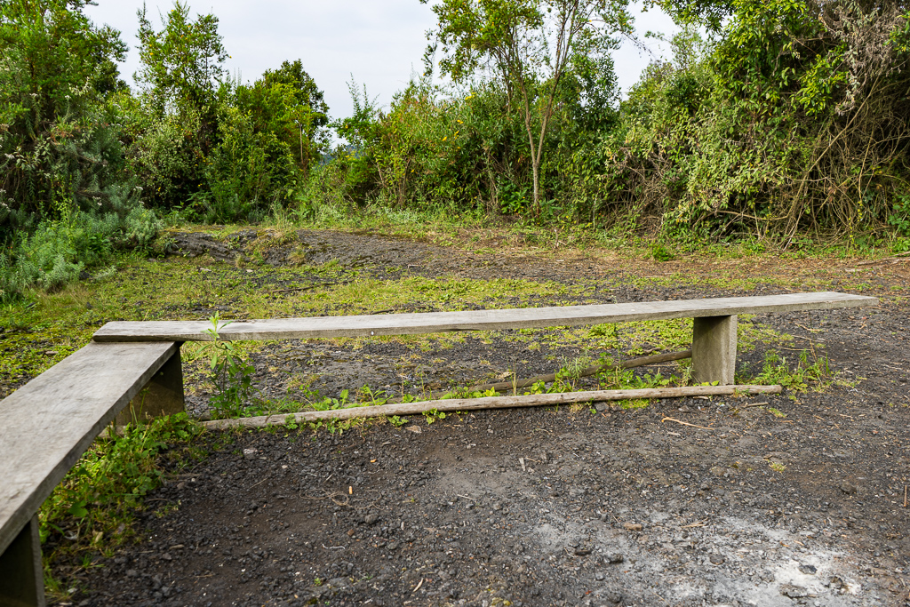 A rest stop, a Hike to the World's Largest Lava Lake - Mount Nyiragongo, DR Congo