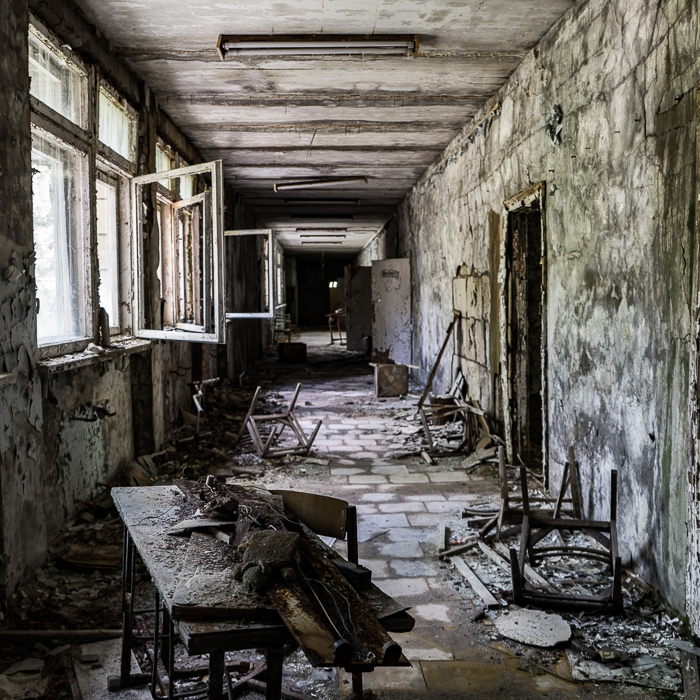 School in Pripyat, Chernobyl
