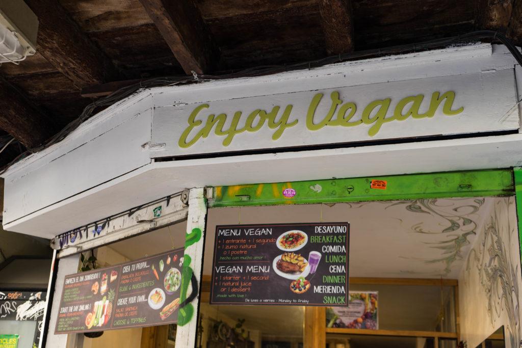 Enjoy Vegan restaurant, Barcelona