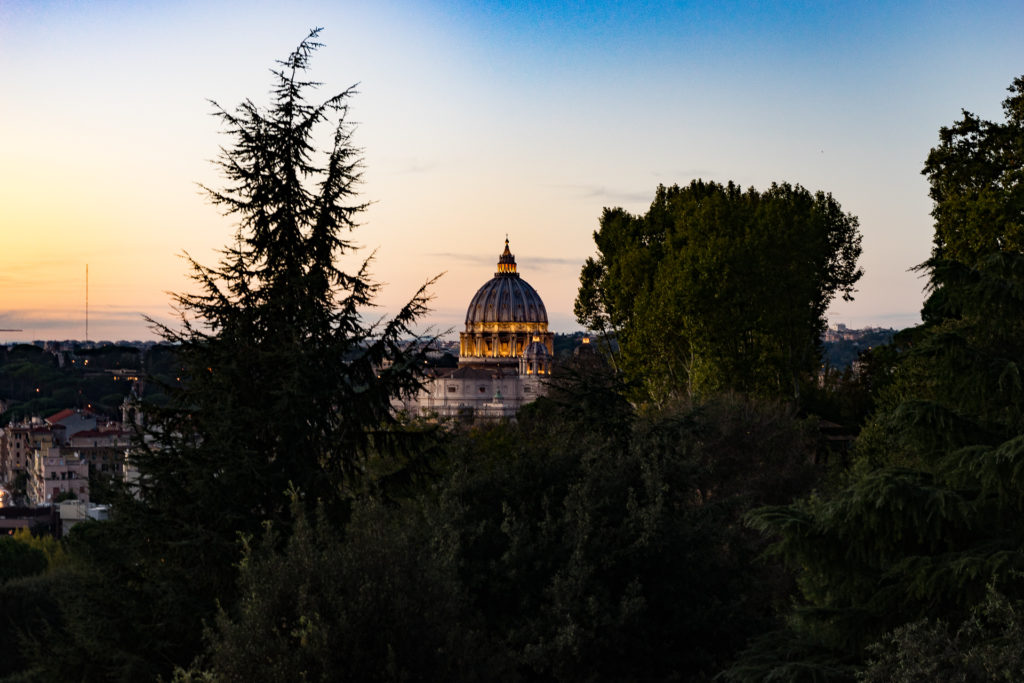 The view of Vatican from Terrazza del Gianicolo