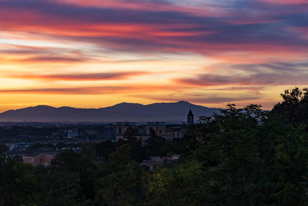 The sunrise from Terrazza del Gianicolo