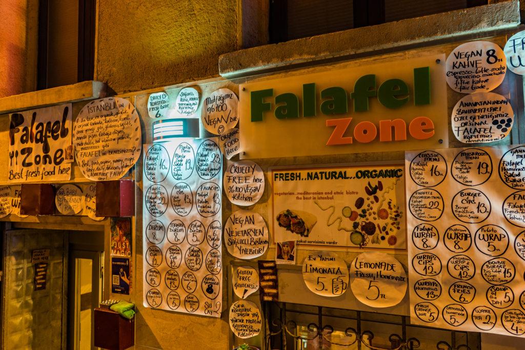 Falafel Zone restaurant, Istanbul