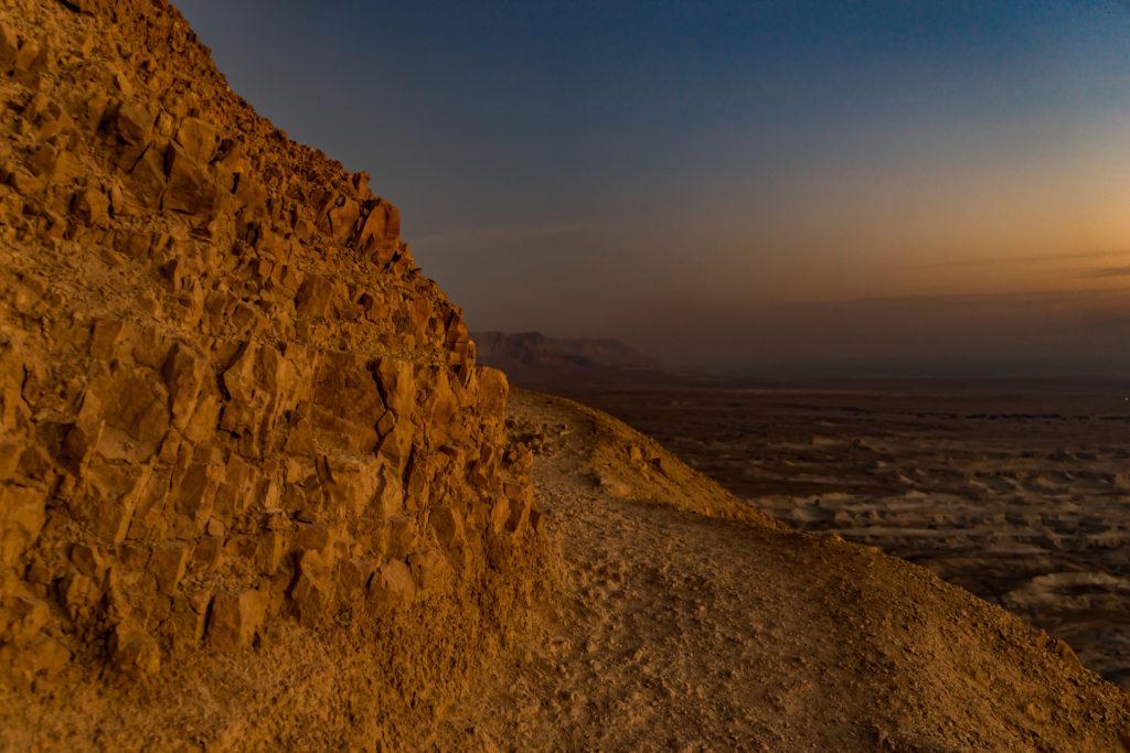 Snake path to Masada in Israel