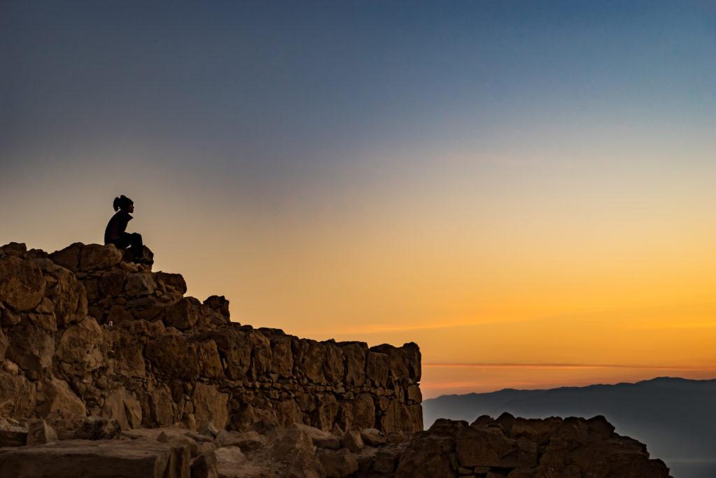Masada sunrise, Israel