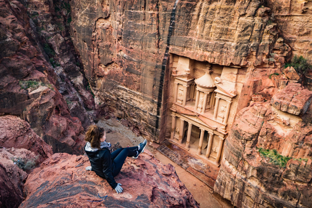 The Treasury viewpoint, Petra, Jordan