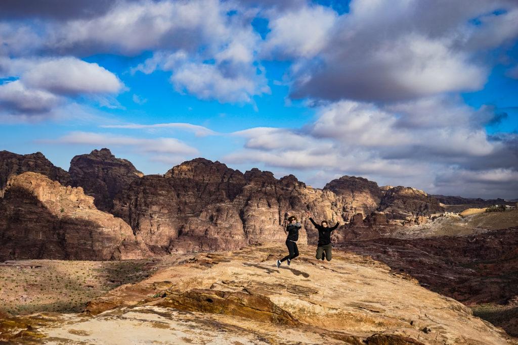 Jumping picture, Petra, Jordan