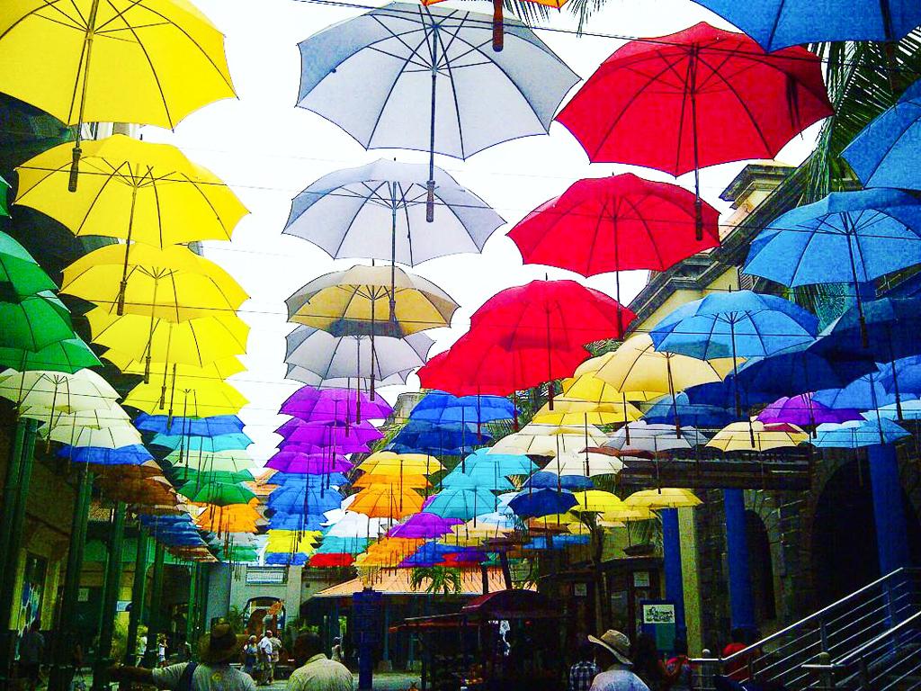 Umbrellas in Mauritius