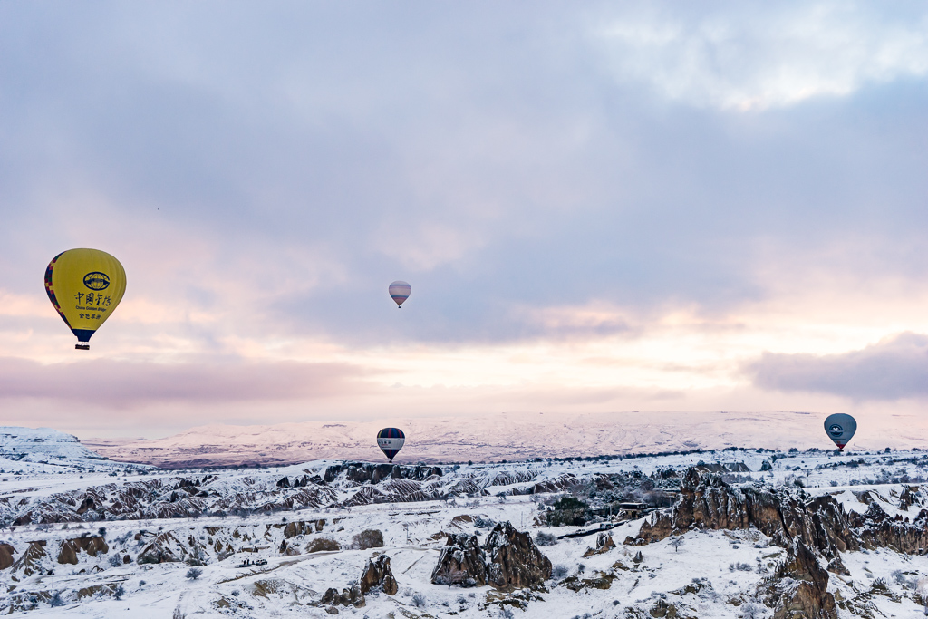 Hot Air balloon Flight in Cappadocia in the Winter