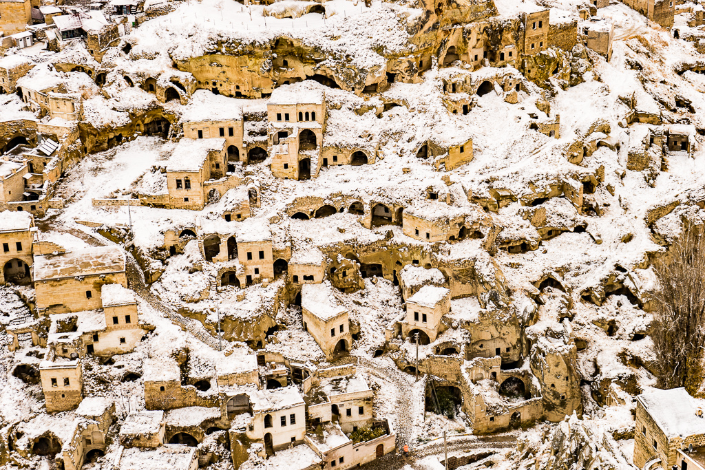 Cappadocia Cave Houses in the Winter