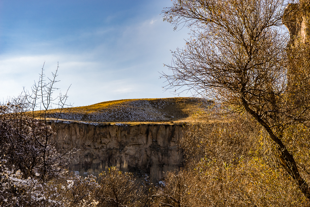 Ihlara Valley, Cappadocia, in the winter