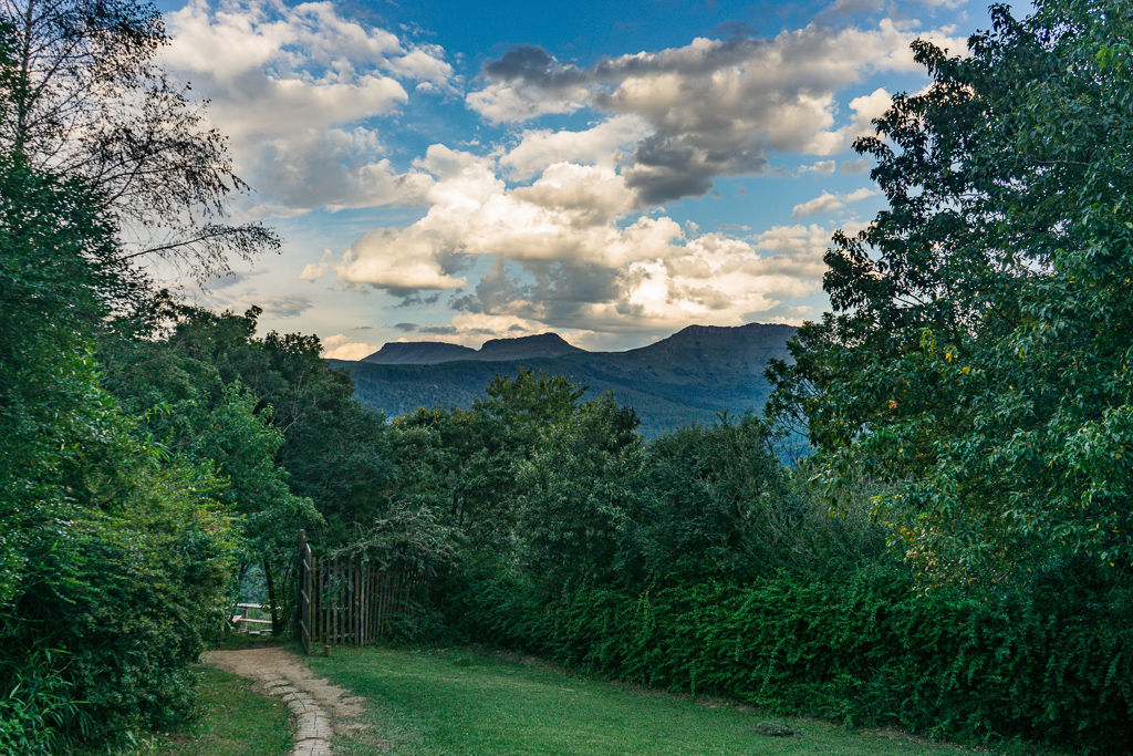 The view from Away with the Fairies hostel, Hogsback, South Africa