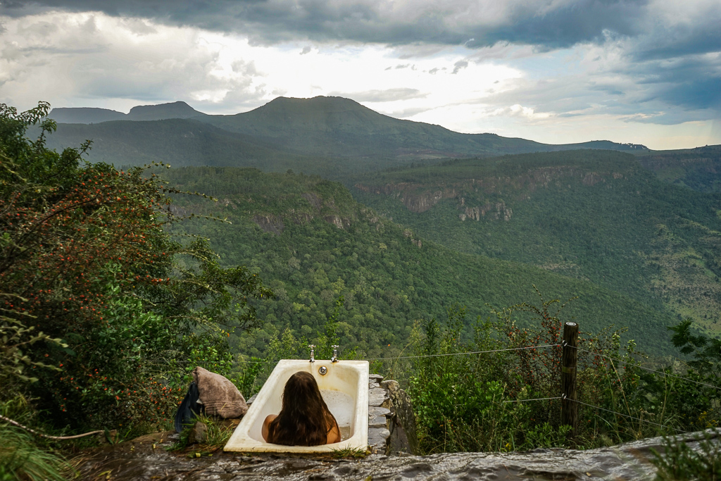Bathtub at Away with the Fairies hostel, Hogsback, South Africa