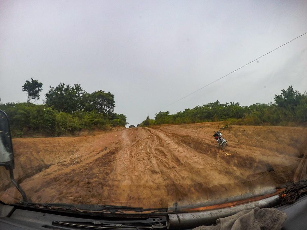 Rovuma River border crossing from Mozambique to Tanzania