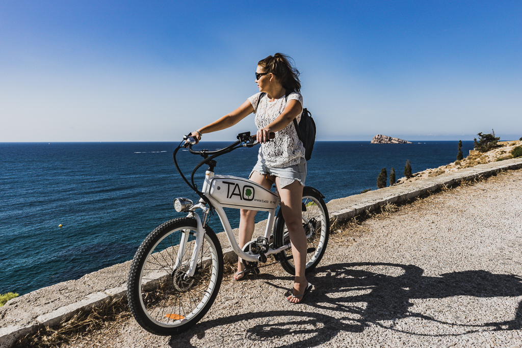 Cycling with an Electric Bike in Sierra Helada Natural Park, Benidorm, Spain