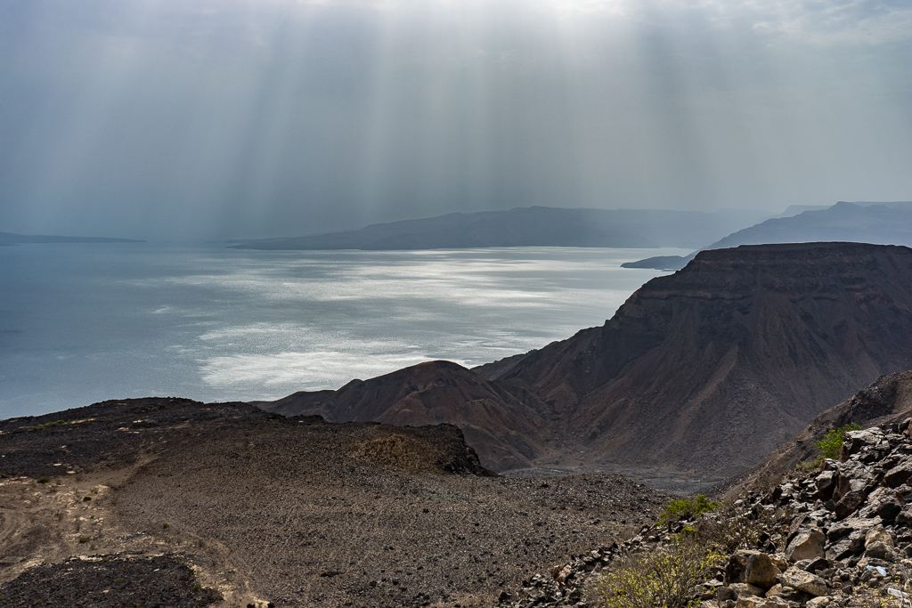 The viewpoint, Lake Assal, Djibouti