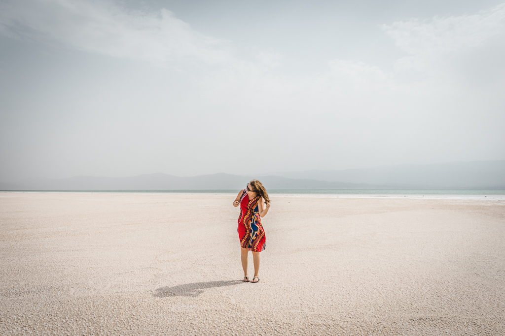 Visiting Lake Assal, Djibouti