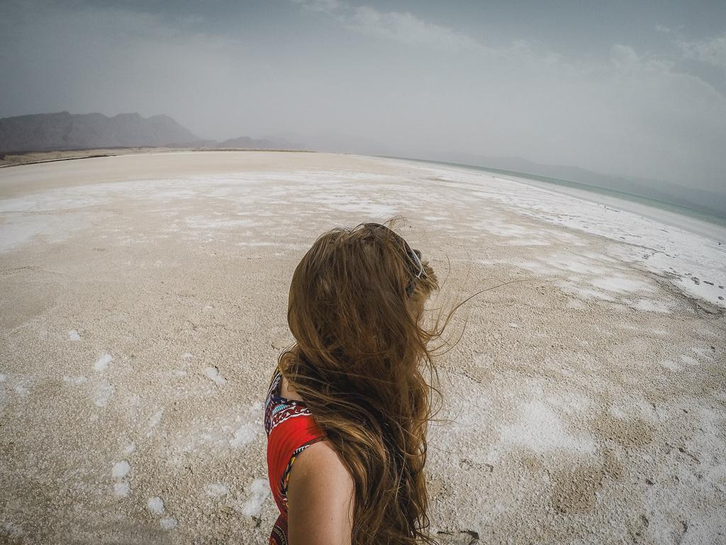 Visiting Lake Assal, Djibouti