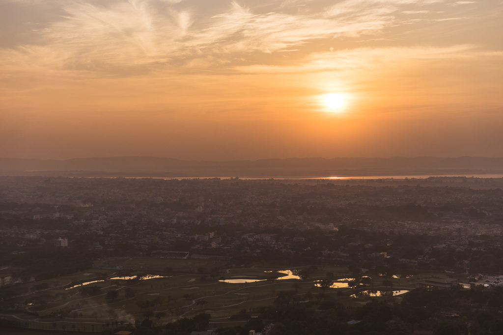 Sunset view from Mandalay Hill, Myanmar