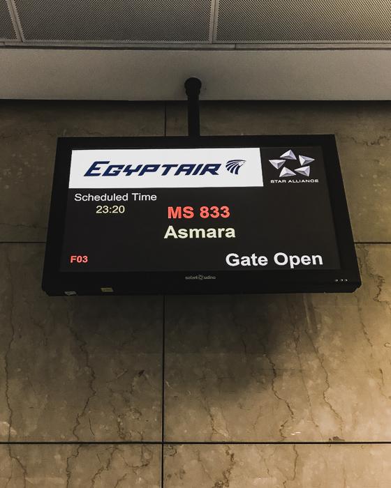 Flight to Asmara, Eritrea