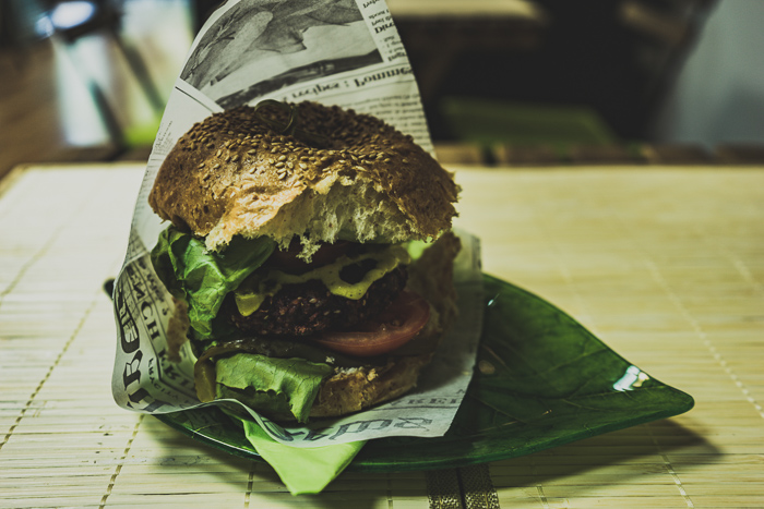 Vegan burger in Bucharest
