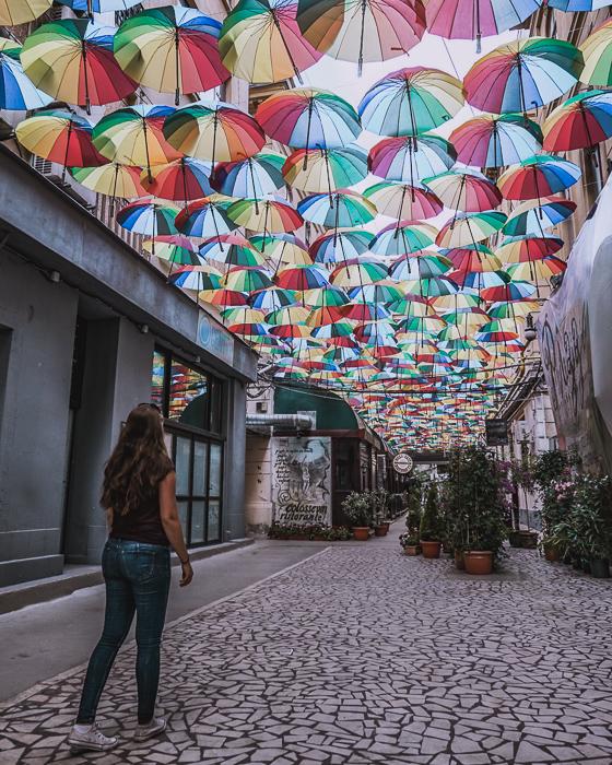 Pasajul Victoria, Umbrellas, Bucharest