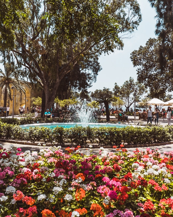 Upper Barrakka Gardens, Valletta, Malta